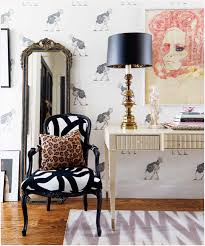black and white chair eclectic entrance foyer bijou and boheme