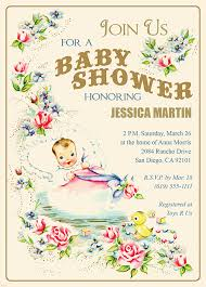 vintage baby shower invitations unique baby shower invitations we