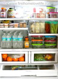 how to make your fridge look like a cabinet my organized fridge first home love life