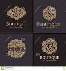 luxury logo set vector logo template a collection of logos for