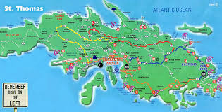 road map of st usvi map of st island major tourist attractions maps