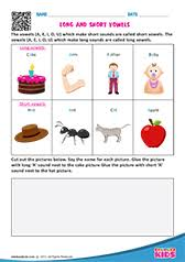 english vowels worksheets kindergarten