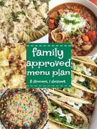 family approved menu plan week 8 together as family