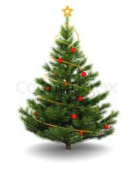 christmas tree images 3d illustration of christmas tree over white background stock