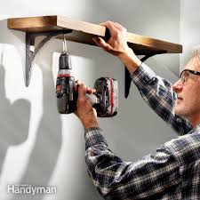 Build Wall Shelves Without Brackets by How To Hang Shelves Family Handyman