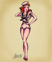 30 awesome pin up tattoos drawings golfian com