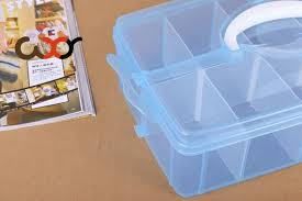 wxy 10 grids portable plastic storage boxes with dividers single