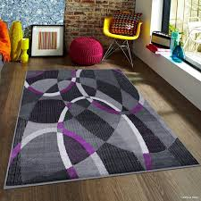 Purple And Grey Area Rugs Latitude Run Keeler High Quality Exclusive Drop Stitch Linear