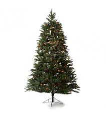 artificial christmas trees multi colored lights one plug artificial christmas tree 7 5 glendale multi colored