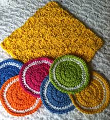 lakeview cottage kids free crochet coaster pattern