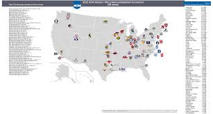 Colleges In Virginia Map by Ncaa Men U0027s Basketball Billsportsmaps Com