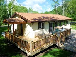 One Story Log Cabins Minnesota Waterfront Property In Crosslake Whitefish Chain