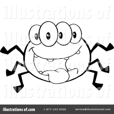 halloween spider clipart black and white spider clipart 1080296 illustration by hit toon