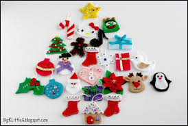 ornaments felt ornament decor big set tree