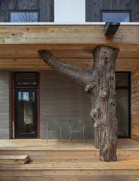 heron hall one of the greenest buildings ever and home the a fallen piece of timber from bainbridge island supports a deck above the master suite at