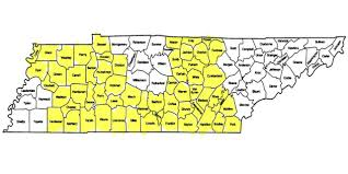 Tennessee Map Of Counties by Tennessee Expects 57 Counties To Have Only One Health Insurer On
