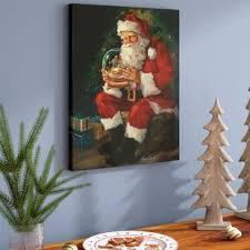 christmas wall decor christmas wall paintings you ll wayfair
