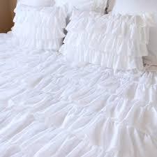 Ruffle Bedding Shabby Chic by White Waterfall Ruffle Bedding Set Shabby Chic Bedding Ruffle