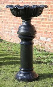 antiques atlas large cast iron planter urn on plinth