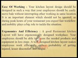 Restaurant Kitchen Layout Design Key Elements Of Restaurant Kitchen Layout Design Youtube