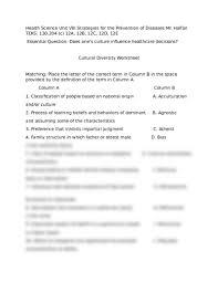 cultural diversity worksheet 3 3 2016 docx health science