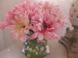 silk flower arrangement centerpiece light pink gerbera daisy