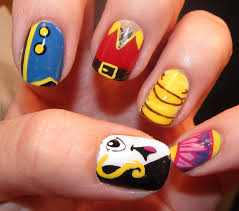 beauty and the beast nail art nail art pinterest disney