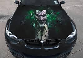 vinyl car hood bonnet color graphics decal joker batman