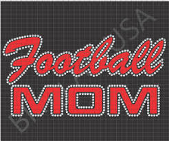 rhinestone football mom designs files downloads stencils templates