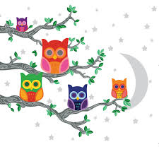 nightly news 2 owl wall decals walldecals com
