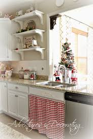 Christmas Kitchen Curtains by Adventures In Decorating Our 2014 Christmas Kitchen