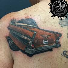 car tattoos my dad loved his 1957 chevy bel air 2 door sport coupe i wanted