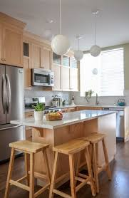 kitchen ideas with maple cabinets my s kitchen it s not white or subway tile