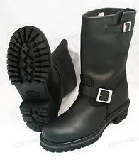 leather biker boots leather biker boots ebay