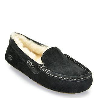 UGG Australia Ansley Moccasin Black Slippers 3312-BLK