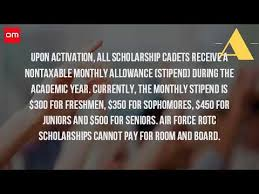 how much does the rotc pay for college youtube