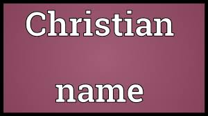 christian name meaning