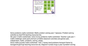 problem solving activities for key stage 1 google docs