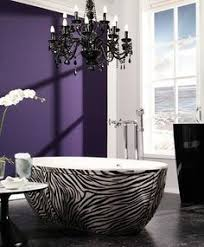 Love The Deep Purple Walls This Would Be Beautiful In An Chicago - Girls bathroom design