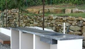 comment construire une cuisine exterieure cuisine exterieure beton la cuisine bacton plan de travail