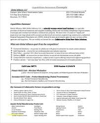 master resume template capability statement template doc cover letter for template doc
