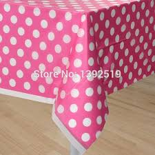 thanksgiving plastic table covers free shipping 10pcs pink color table cloth polka dots plastic table