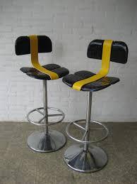 Unique Bar Stools Furniture Unique Modern Swivel Bar Stools With Black Backs And
