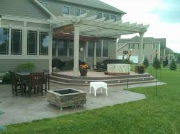 Cost Of Stamped Concrete Patio by Stamped Concrete Patio Fire Pit Cost Homedesignlatest Site