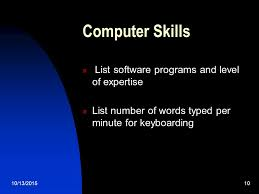 Computer Skills List Resume 10 13 20151 How To Write A Resume U2026 10 13 20152 What Is A Resume A