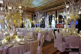 stunning image of wedding table decoration with white and gold