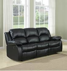 Best Price Two Seater Sofa Amazon Com Bonded Leather Double Recliner Sofa Living Room