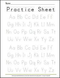 printable alphabet kindergarten free printable handwriting abc worksheet free printables