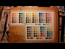 watercolor spectrum mixing chart youtube