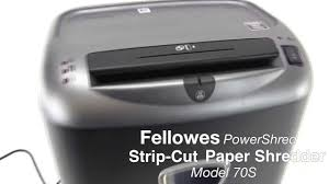 Home Paper Shredders the fellowes powershred 70s strip cut paper shredder youtube
